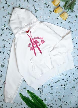 🎁1+1=3 стильное плотное белое худи толстовка оверсайз с вышивкой newquay, размер 48 - 50