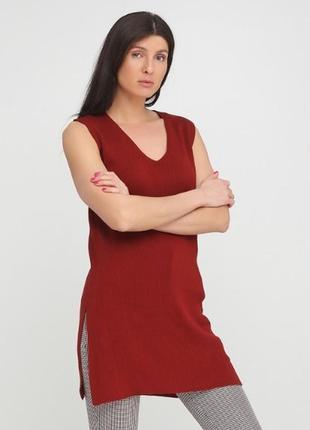 Платье туника терракотовая massimo dutti