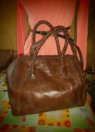 Большая вместительная   сумка 100% натуральная кожа