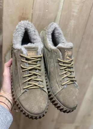 Женские ботинки замшевые зимние