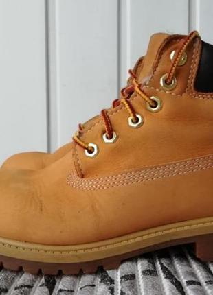 Кожаные ботинки фирмы timberland