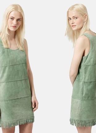 Платье из натурального замша topshop