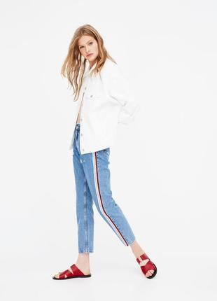 Джинси з високою посадкою мам pull and bear mom jeans - 26