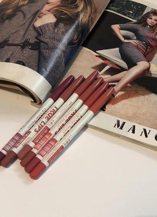 Набір олівців для губ (6шт)