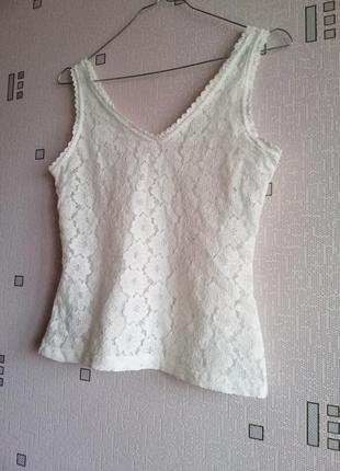 Молочная эластичная блуза m&s