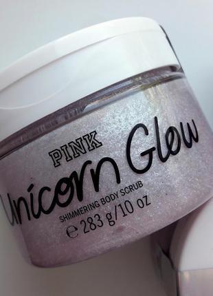 Полирующий скраб для тела с мерцанием unicorn glow pink victoria's secret сахарный