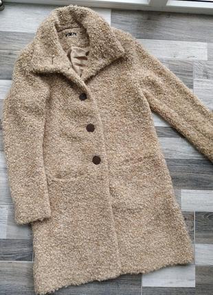 Плюшевая шубка-пальто от jones