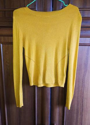 Укороченный свитерок от h&m  горчичного оттенка