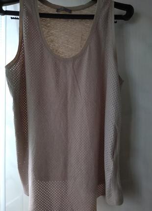 Майка футболка из комбинированных тканей zara w&b collection portugal