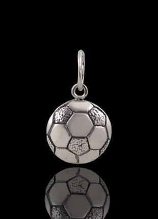 Кулон , подвеска , серебряный , футбольный мяч