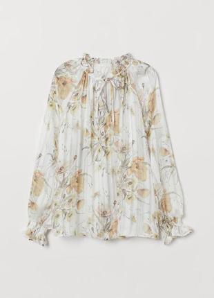 Блуза в цветочный принт zara