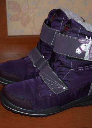 Ботиночки ricosta sympatex (германия) на меху, носок с защитой  р.35