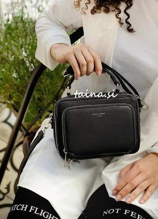 Клатч черный david jones cm3966 black оригинал сумка кросс боди