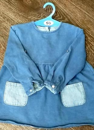 Джинсовое платье zara