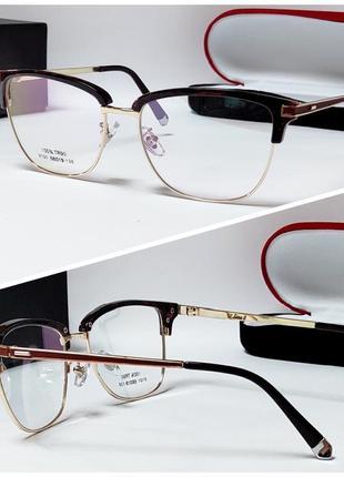 Очки женские для вставки линз винного цвета (4063)