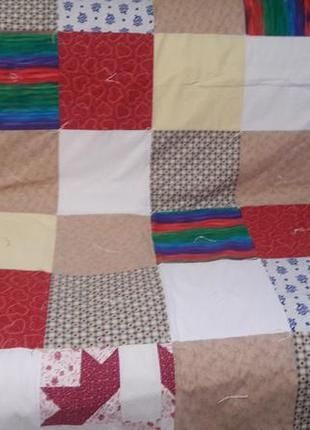 Лоскутное одеяло, покрывало, плед, пэчворк, ручная работа из сша