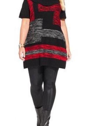 """Туника платье-свитер  в стиле """"пэчворк """" размер m (полномерит)"""