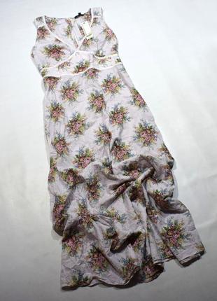 Ніжне романтичне чайне  плаття у квітковий принт