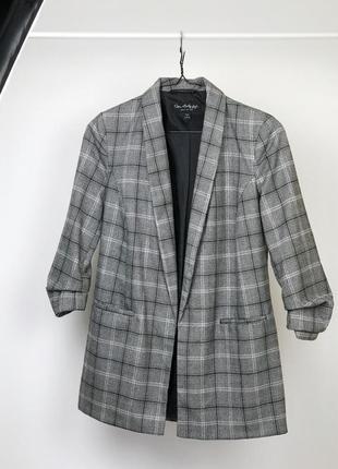 Пиджак в клетку miss selfridge из костюмной ткани