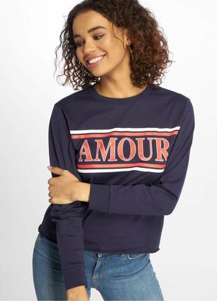 Свитшот с надписью amour new look
