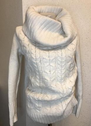 💫шикарный шерстяной свитер молочного цвета💫