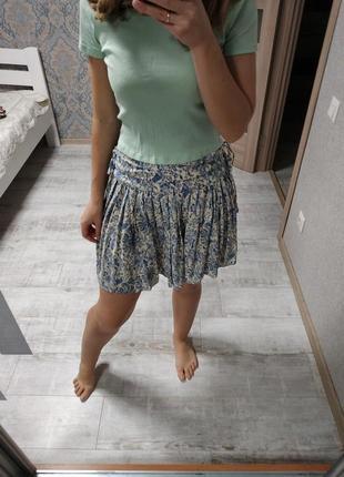 Легкая летняя вискозная юбка в принт
