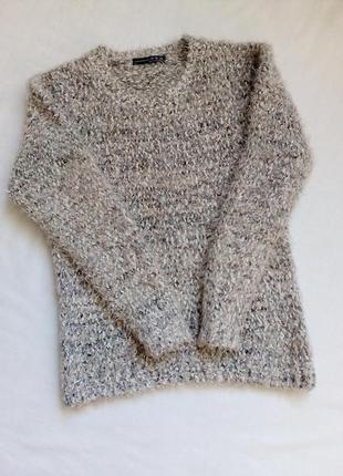 Мягкий пушистый меланжевый свитер