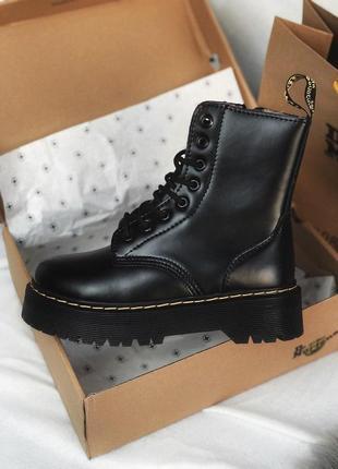 Распродажа! зимние ботинки dr martens на платформе в черном цвете /осень/зима/весна😍