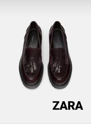 Супер стильные новые туфли zara (оригинал) с европы со скидкой. остался только 36 размер