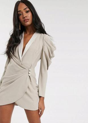 Asos сукня-піджак з пишними рукавами
