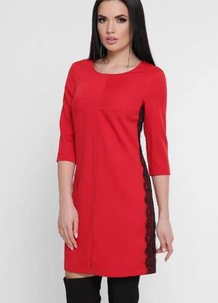 Платье спортивное красное