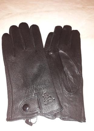 Перчатки мужские кожа оленины на шерсти