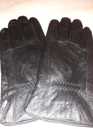 Перчатки мужские натуральная кожа на махре