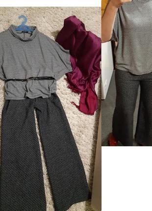 Стильные теплые широкие брюки/кюлоты,defacto  ,p. 10-12