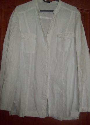 Рубашка лен 48-50р