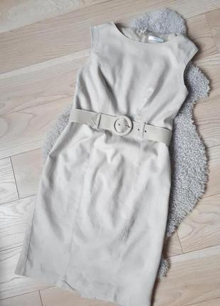 Льняное платье футляр миди marks & spencer p.m