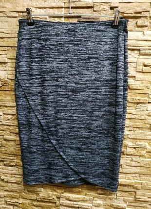 Меланжевая юбка карандаш от mango
