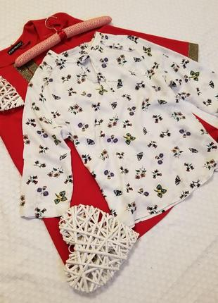 🌼 очень красивая блуза в принт от marks&spencer вискоза