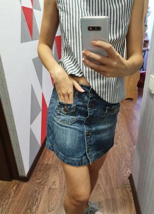 Джинсовая юбка mng jeans