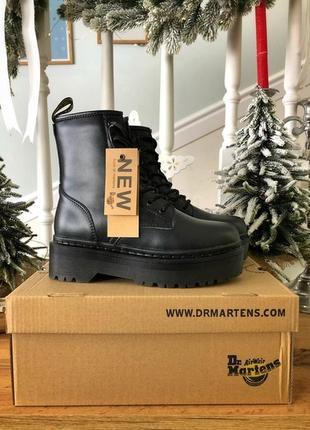💖акция💖dr.martens jadon black, женские ботинки доктор мартинс зимние с мехом