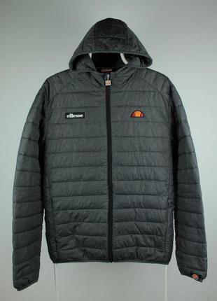 Оригинальный стильный пуховик ellesse lombardy padded jacket in dark gray