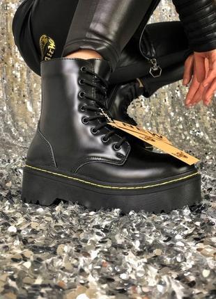 💖акция💖dr.martens jadon black, женские ботинки зимние доктор мартинс зимние с мехом