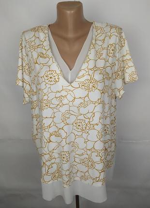 Блуза трикотажная красивенная большого размера marks&spencer uk 20/48/3xl