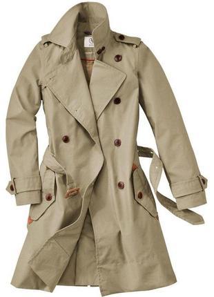 ❤️тренч aigle (франция). пальто aigle trench coat.  плащ удлиненный бежевый aigle.