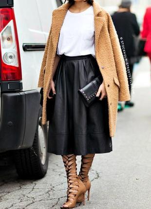 Кожаная юбка с карманами tu/эко-кожа
