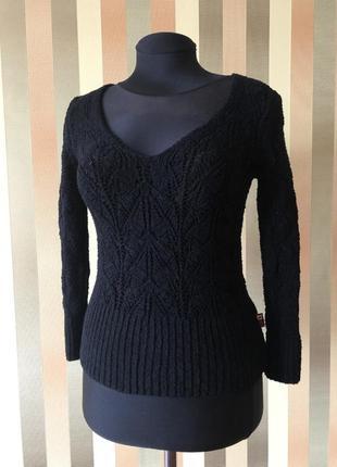 Вязанный свитерок джемпер чёрный s rosa club
