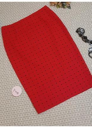 Юбка карандаш marks&spencer/юбка с молнией/шерсть/красная юбка футляр