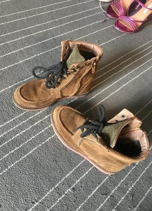 Стильные ботинки сапоги massimo dutti оригинал кожа