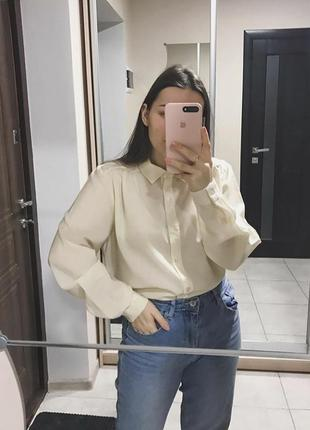 Винтажная кремовая шерстяная рубашка винтаж шерсть мериноса