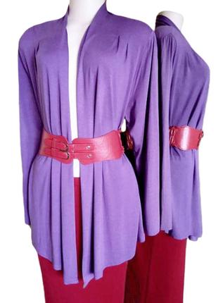 Стильный фиолетовый кардиган bm из вискозы, универсальный размер, англия.